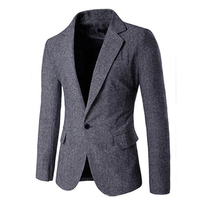 Amazon.com: NeeKer - Chaqueta para hombre, vestido casual de ...