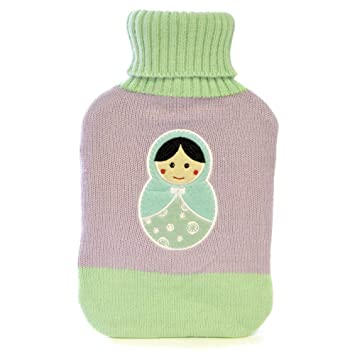 Thermotherapy Super Soft 2l Winter Knitted Hot Water Bottle Russian