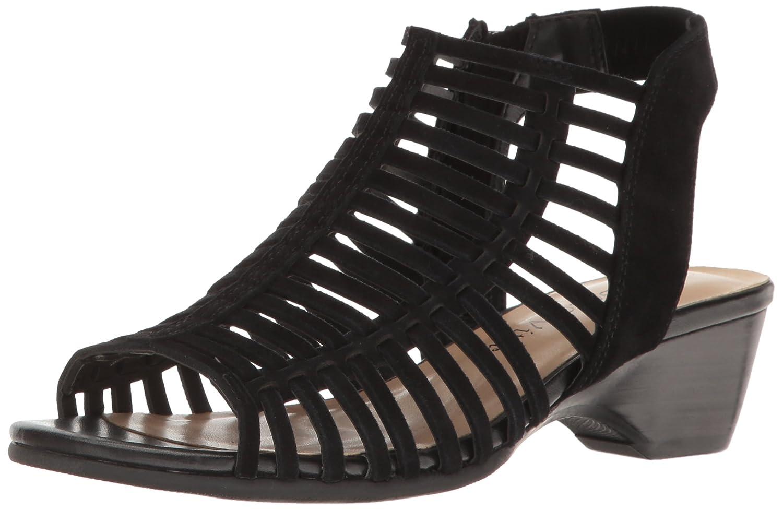 Bella Vita Women's Pacey Wedge Sandal B01N65F5VC 11 2W US|Black Kid Suede