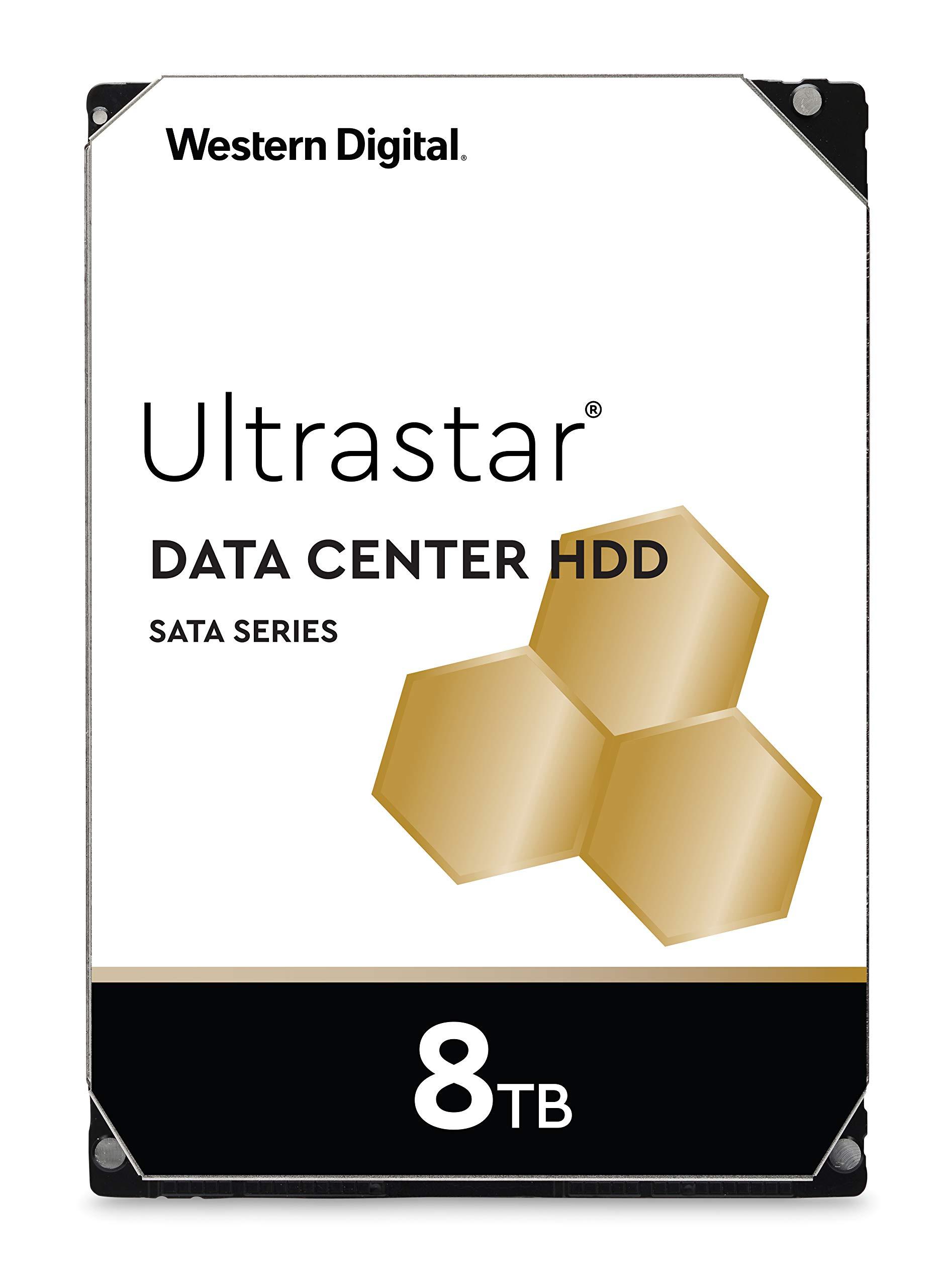 Western Digital 8TB Ultrastar DC HC320 SATA HDD - 7200 RPM Class, SATA 6 Gb/s, 256MB Cache, 3.5'' - HUS728T8TALE6L4 by Western Digital