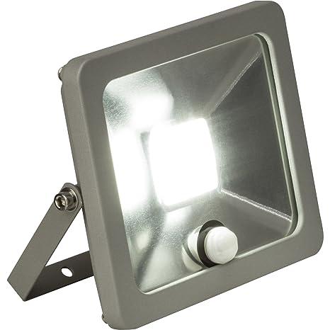 Foco LED 20 W exterior Foco con detector de movimiento, 1500 lúmenes, 4200 K