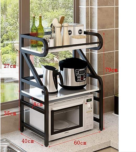 Lw Shelf Estantes De Cocina, Madera Y Metal para Horno De ...