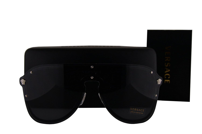 a11a406d4a Versace VE2180 Sunglasses Silver w Gray Lens 100087 VE 2180  Amazon.co.uk   Clothing