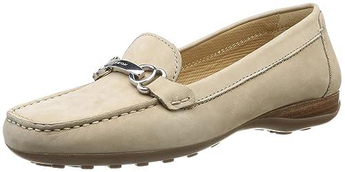Geox Donna Euro A - Mocasines para mujer, color beige (lt taupec6738), talla 39.5: Amazon.es: Zapatos y complementos