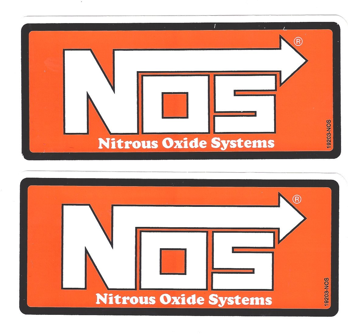 Amazoncom NOS Nitrous Oxide Racing Decals Stickers  Inches - Racing decals