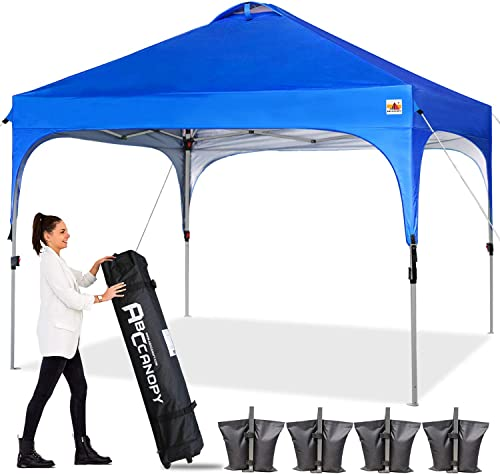 ABCCANOPY Canopy Tent 10×10 Pop Up Canopy Outdoor Canopies Super Comapct Canopy Portable Tent Popup Beach Canopy Shade Canopy Tent