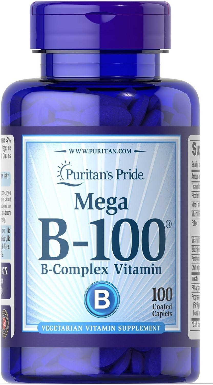 Puritan's Pride Vitamin B-100 Complex-100 Caplets
