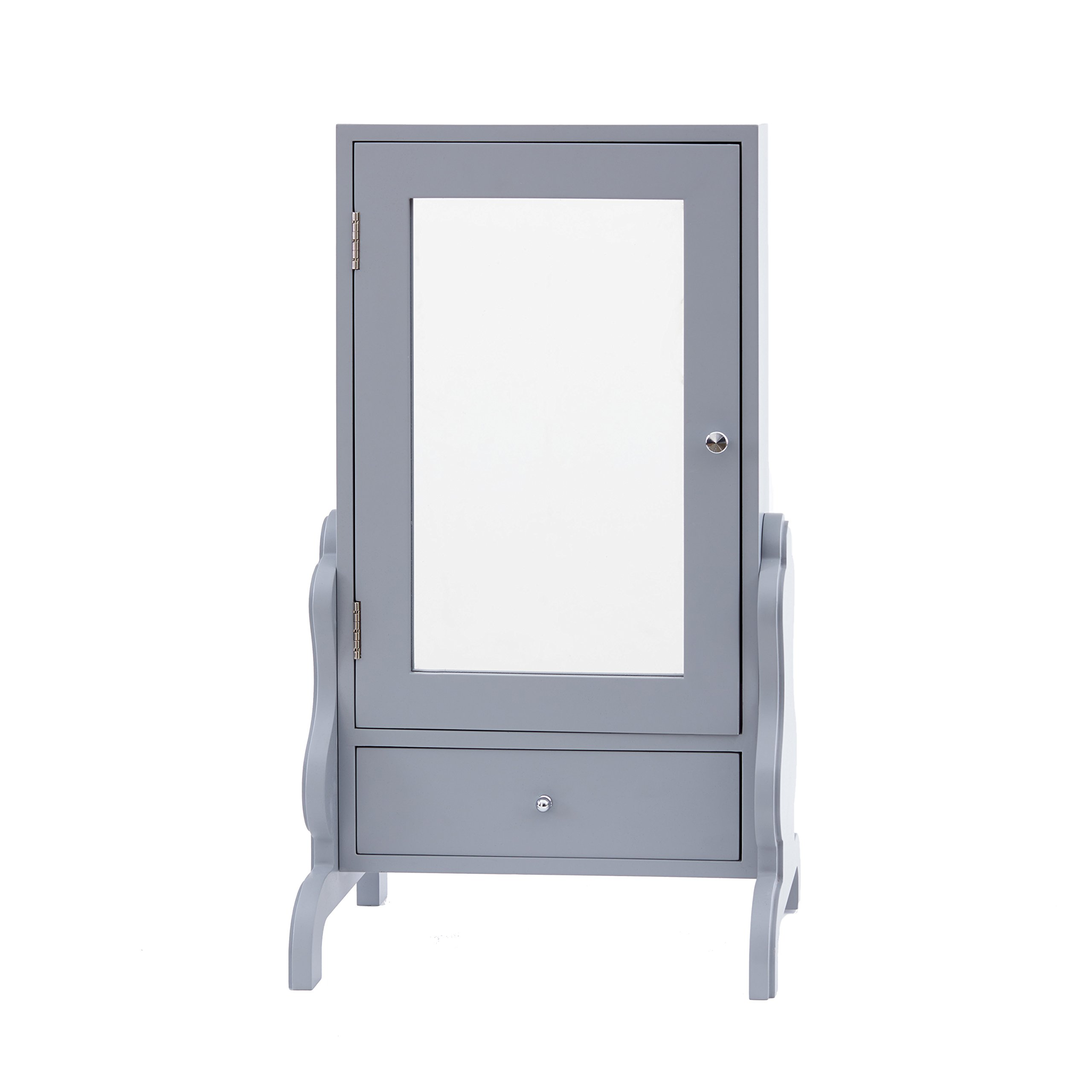 FirsTime & Co. Gray Tabletop Mirror with Jewelry Storage