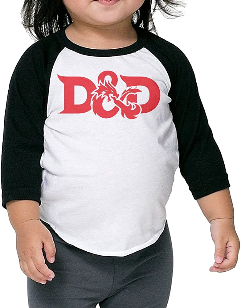 Dungeons & Dragons Animated Series Toddler Unisex 3/4 Sleeve Baseball Tee Shirts
