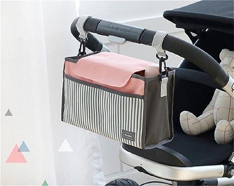 Farway Universal Stroller Organizador Cochecito de transporte carro momia bebé pañales mamá bolsas botella pañales consolas