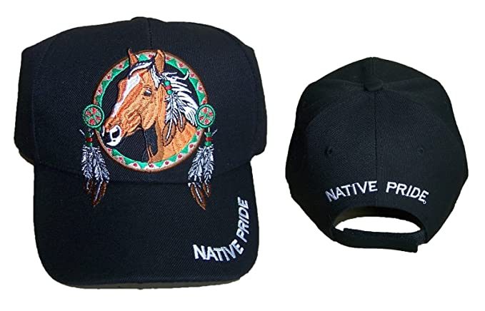 70da322cc12 Image Unavailable. Image not available for. Color  Horses Medicine Wheel Native  Pride Baseball Caps ...