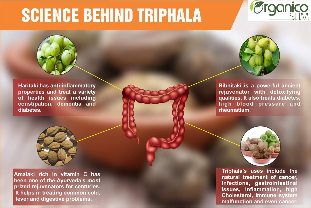 Buy Triphla Extract 45% Tannin- 120 Veg Online at Low Prices