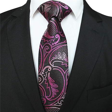 XJIUER corbata Modelos de diseño únicos 8CM Poliéster Seda ...