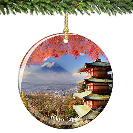 Japanese Christmas Tree Ornaments.Amazon Com Tokyo Japan Christmas Ornament Porcelain 2 75
