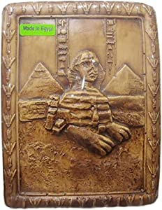 Egyptian Wall Hanging Plaque Sphinx Pyramids Decor Pharaohs Hand Engraved 3d Carved And Professionally Crafted With Really High Work Using Natural Materials With Very Clear Deep Engraves