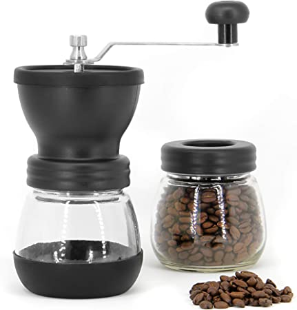 Manual Coffee Bean Grinder Adjustable Coarseness Ceramic Mill Hand Held Coffee Mill Compact Crank For Home Office Travelling Mw