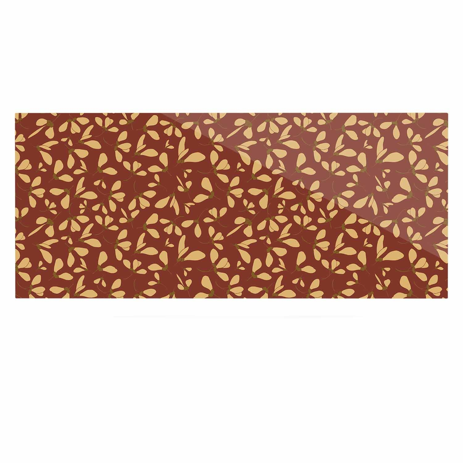 Kess InHouse Mayacoa Studio Under The Golden Hour Gold Floral Luxe Rectangle Panel 24 x 36