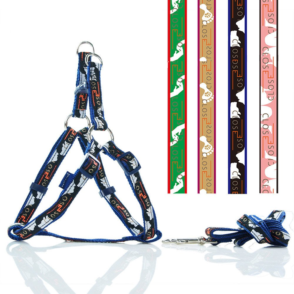 bluee XS bluee XS Dog Traction Rope Pet Supplies Chest Back Belt Pet Traction Large and Medium Dogs bluee XS