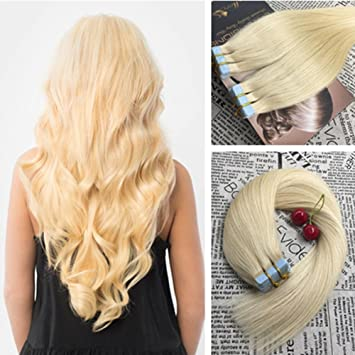 Amazon moresoo 14 inch tape in thick hair extensions moresoo 14 inch tape in thick hair extensions straight remy hair skin weft 40 pieces 100 pmusecretfo Gallery
