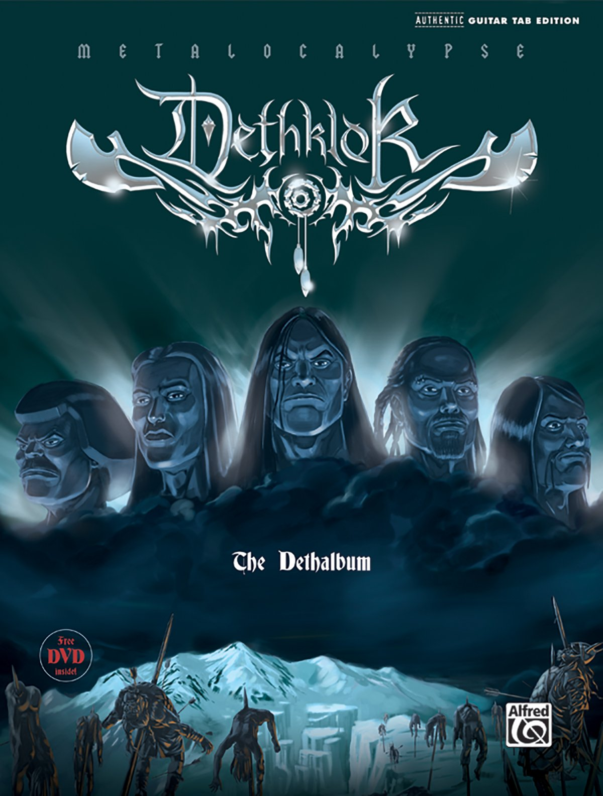 The Dethklok -- The Dethalbum: Authentic Guitar TAB, Book & DVD (Authentic Guitar-Tab Editions)