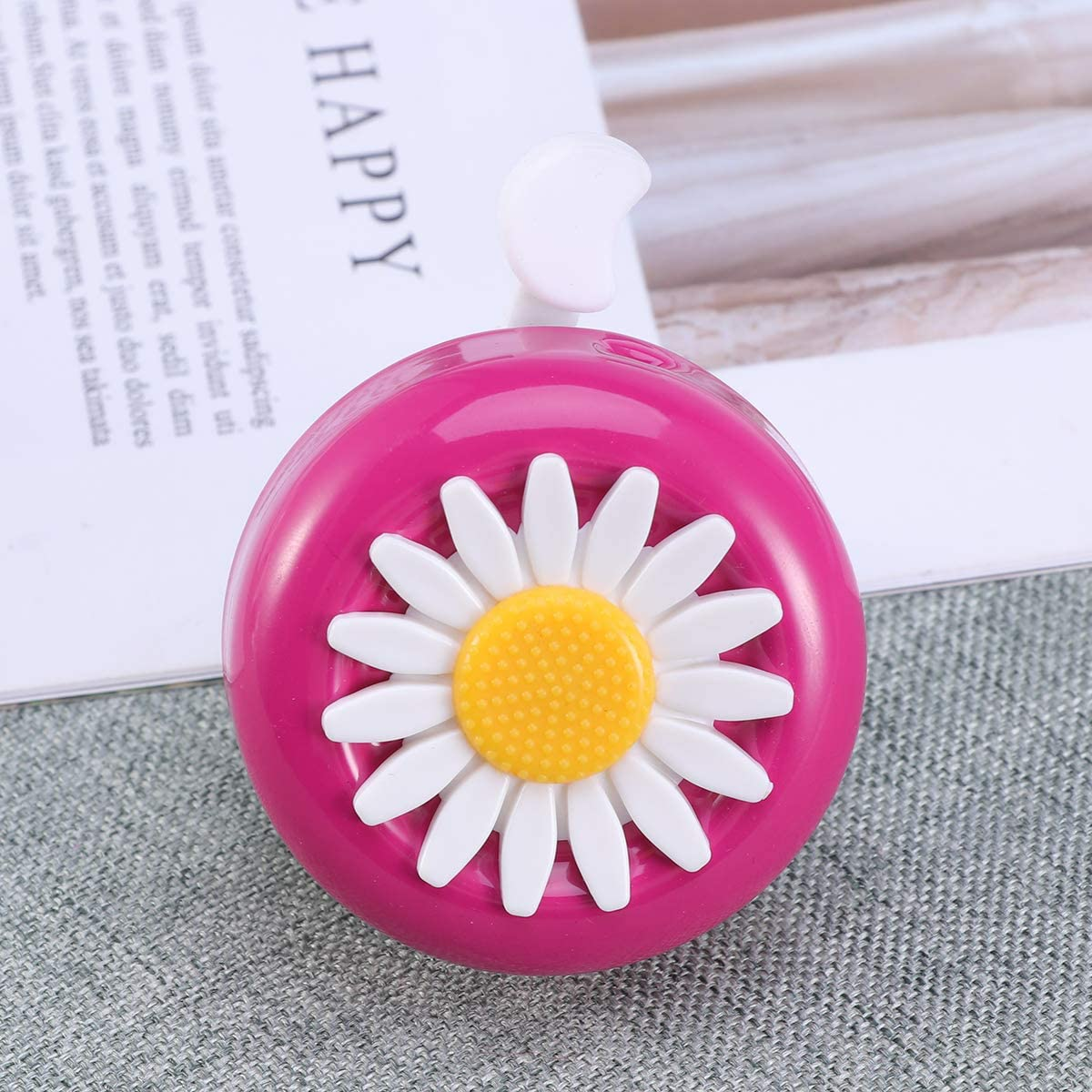 LIOOBO Kids Bike Bell with Plastic Flower Handlebar Bicycle Bell for Girls Boys