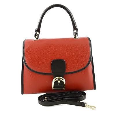 Köfferchen Tasche Aus Echtem Leder Für Damen Farbe Rot
