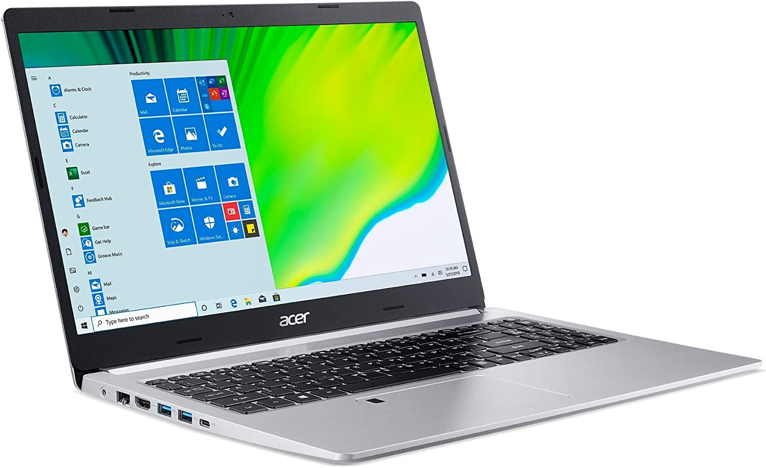 "Acer Aspire 5 A515-44-R93G, 15.6"" Full HD, AMD Ryzen 3 4300U Mobile Processor with Radeon Graphics, 4GB DDR4, 128GB NVMe SSD Windows 10 S (Renewed)"