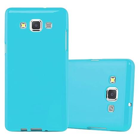 Cadorabo Funda para Samsung Galaxy A5 2015 en Jelly Azul Claro - Cubierta Proteccíon de Silicona TPU Delgada e Flexible con Antichoque - Gel Case ...