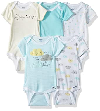 ea2f528ca Amazon.com: Gerber Baby Boys' 5-Pack Variety Onesies Bodysuits: Clothing