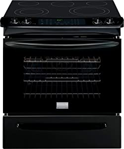 "Frigidaire FGES3065PBGallery 30"" Black Electric Slide-In Smoothtop Range - Convection"