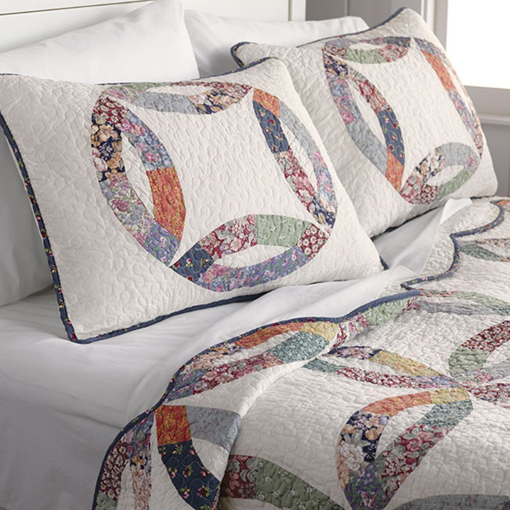 Orvis Country Wedding Ring Quilt & Sham Set / Twin, Twin by Orvis