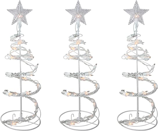 Christmas Tree Lighted Spiral Outdoor Holiday Yard Sculptures Decoration