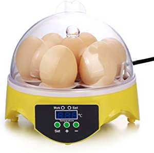 Homdox Egg Incubator, Temperature Control Hatching Machine Automatic Incubator for Chicken Eggs, Poultry Hatcher for Chickens Ducks Goose Birds