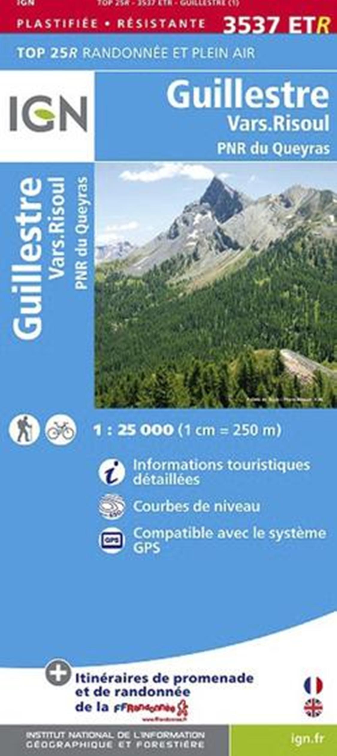 Guillestre / Vars Risoul / PNR du Queyras 2014: IGN.P.3537ETR (Ign Map)