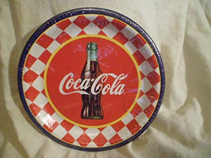 Coca Cola 9\u0026quot; Party Paper Plates 10 In One Package & Amazon.com : Coca Cola 9\