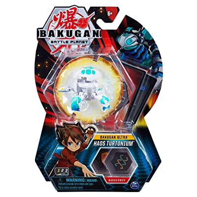 Bakugan Ultra, Haos Turtonium, 3-inch Tall Collectible Transforming Creature, Wave 7, for Ages 6 and Up,: Toys & Games