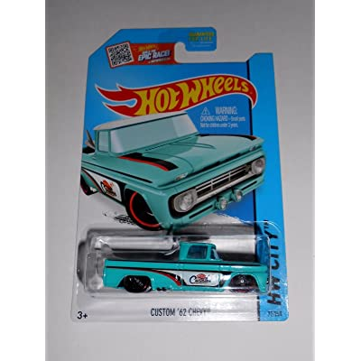 HOT WHEELS CUSTOM 62' CHEVY 72/250 HW CITY rare truck new: Toys & Games