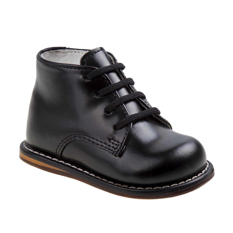 Josmo Unisex Toddlers Pebbled-Leather Walking Shoe, BlackPebble, 5 M US Infant by Josmo