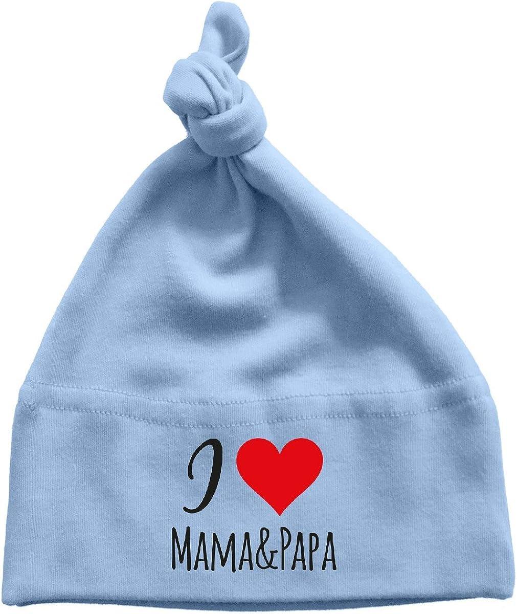 Mikalino Baby M/ütze I Love Mama /& Papa