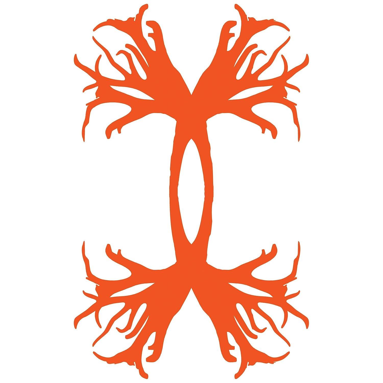 "UDE1214 Under Armour 6/""Antler Logo Decal Blaze Orange, Sold Individually"