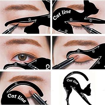 Amazon.com : bromrefulgenc 1Pair Cat Eyeliner Guides Easy Quick Makeup Tool Eye Liner Stencils Templates : Beauty