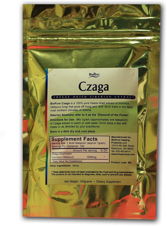BioPure Czaga – Freeze Dried Chaga Mushroom Extract 100 grams