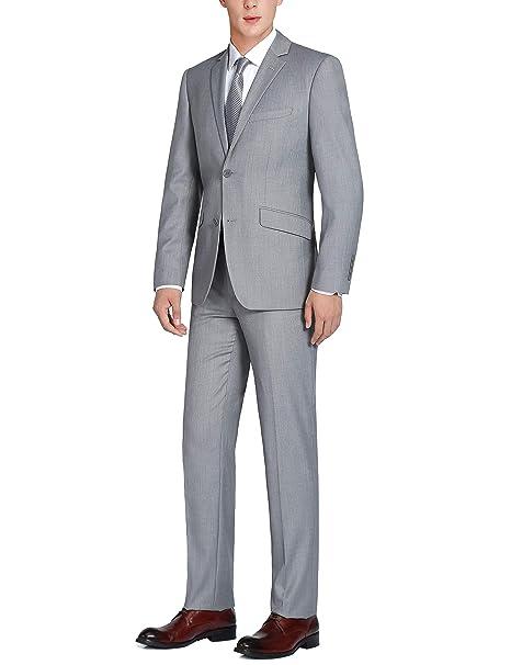 Amazon.com: Chama - Traje de hombre de ajuste delgado con ...