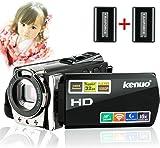 Kenuo HDビデオカメラ デジタルビデオカメラ 2400万画素 1080P WIFI搭載 16倍デジタルズーム バッテリー*2 (WiFi式)
