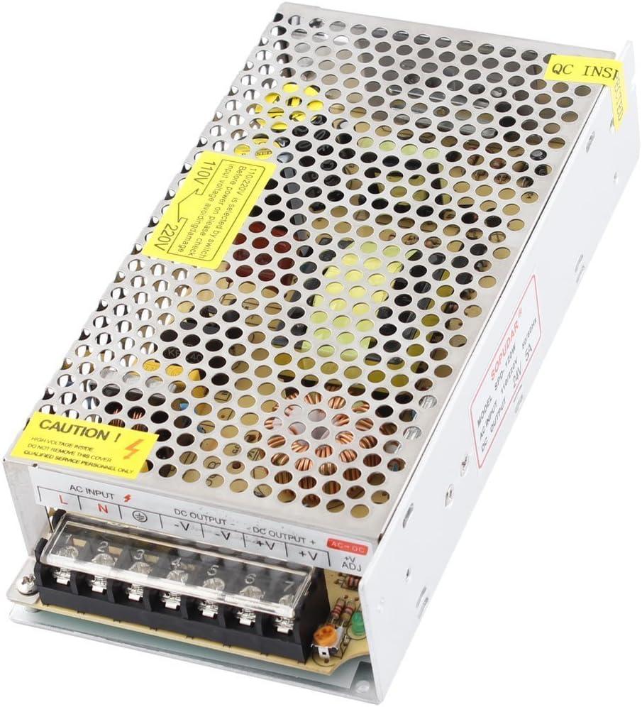 RPS Transformador de fuente de alimentación de 220vAC a 24vDC para luces de tira de LED o RGB 19x4x9cm DC 5A 120W