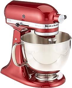KitchenAid RRK150GD Artisan Series Stand Mixer, 5 quart, Grenadine (Renewed)