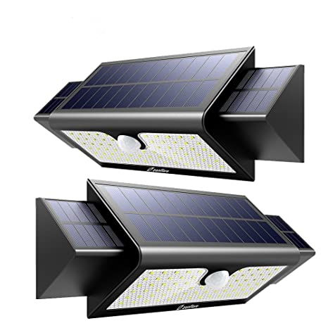 Zanflare Lámpara Solar (71 LED 2 Pack) Zanflare Lámpara Solar con Sensor de Movimiento