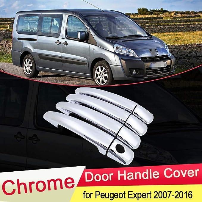 XIANGSHAN for Peugeot Expert Tepee 2007 2008 2009 2010 2011 2012 2013 2014 2015 2016 manija de Puerta del Cromo Ajuste de la Cubierta del Coche Que Labra los Accesorios: Amazon.es: Hogar
