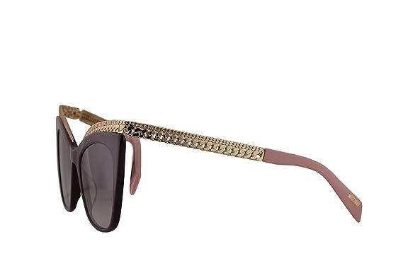 05d6e3449188 Moschino MOS009/S Sunglasses Violet w/Dark Grey Gradient Lens 52mm B3V9O MOS  009S MOS 009/S MOS009S: Amazon.co.uk: Clothing