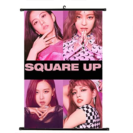 Amazon com: Youyouchard Kpop Blackpink Square UP Wall Scroll Poster